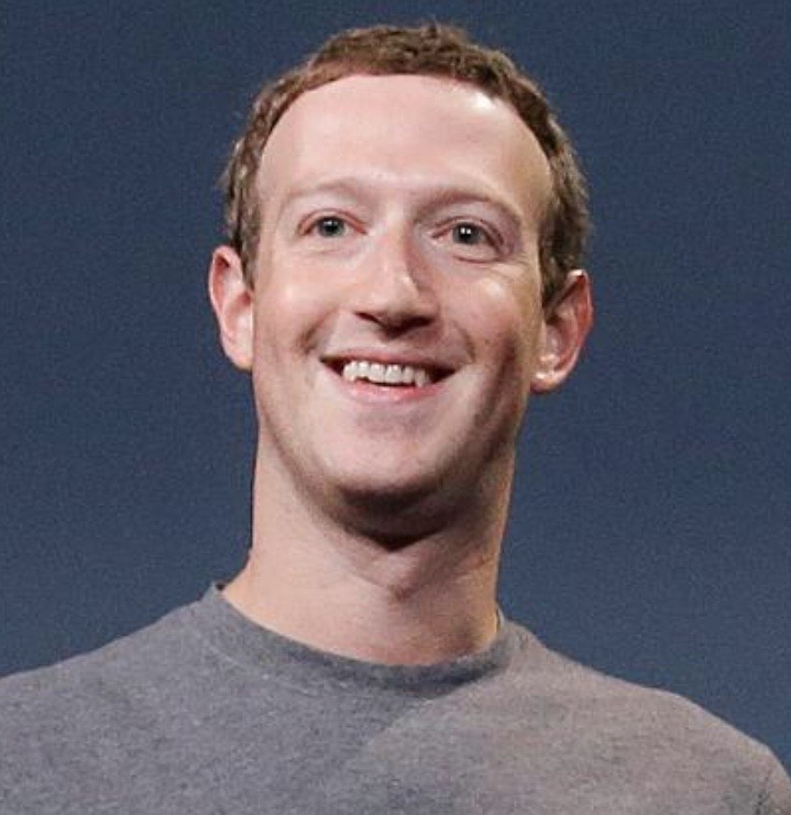 A photo of Mark Zuckerberg whose net worth is over a billion dollars.